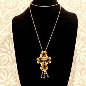 J. CREW gold/black bead bouquet necklace NWT $89